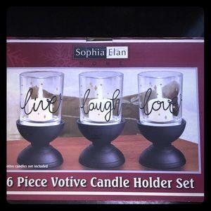6 Piece Votive Candle Set
